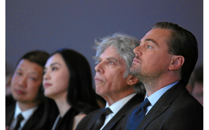 Leonardo DiCaprio during the Crystal Awards of the Annual Meeting 2016 of the World Economic Forum in Davos. Picture: swiss-image.ch