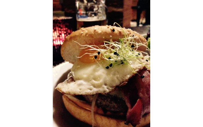 I was warned of the infamous #Davos2015 R350 hamburger - so here it is. #dutycalls- it's a good deal in these parts..