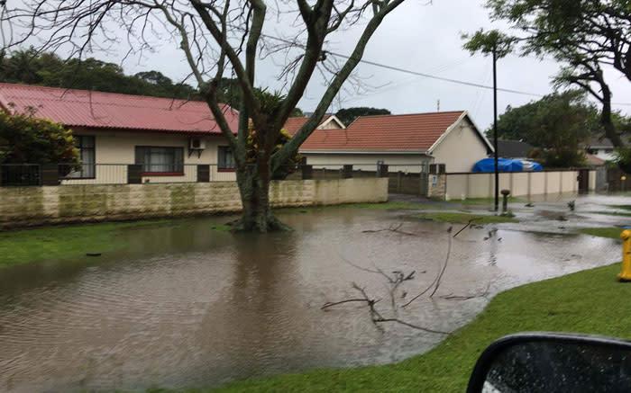 Amazimtoti, south of Durban on 10 October 2017. Picture: Chantel Adant/Storm Report SA.