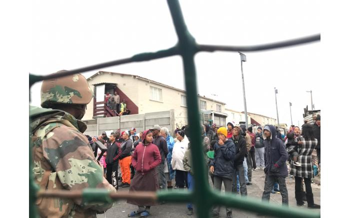 The SANDF arrived in Manenberg on 18 July 2019, as part of an anti-crime operation. Picture: Kaylynn Palm/EWN.