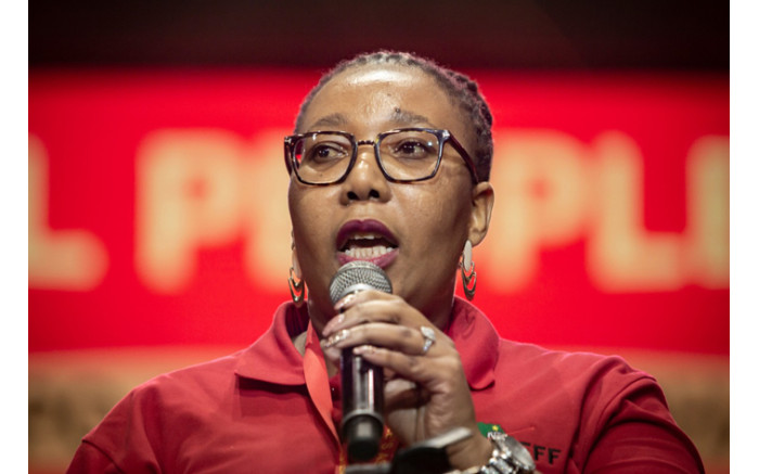 Member of Pariliament Veronica Mente is the party's new national chairperson. Picture: Sethembiso Zulu/EWN