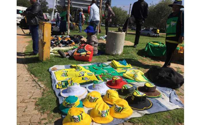 ANC regalia on sale at the 54th national conference on 16 December 2017. Picture: Mia Lindeque/EWN.