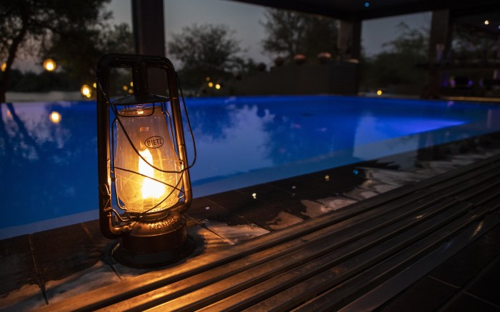 A night swim at one of Limpopo's lodges.
