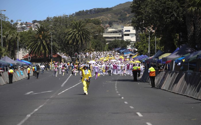 Around 60 minstrel troupes from various suburbs in the Mother City made their way through the city's streets. Picture: Cindy Archillies