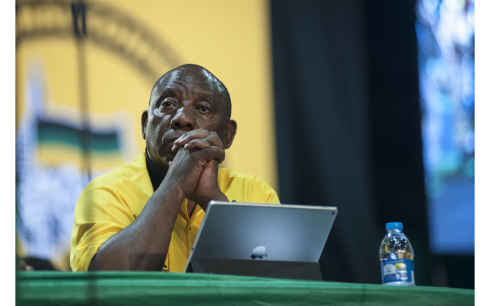 Cyril Ramaphosa during the nominations process at the ANC's national conference on 17 December 2017. Picture: Ihsaan Haffejee/EWN.