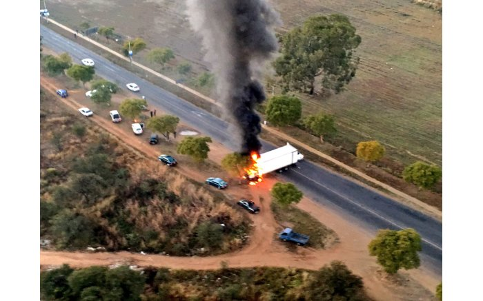 Cars, buses and buildings have been torched in Atteridgeville by angry ANC members. Picture: EWN.