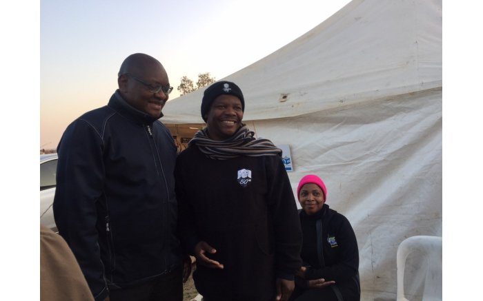 #Elections2016 get underway, Gauteng David Makhura in Midrand to make his mark. Picture: Gia Nicolaides/EWN.