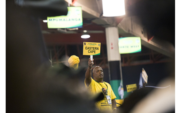 A delegate from the Eastern Cape at the nominations process at the ANC's national conference. Picture: Sethembiso Zulu/EWN