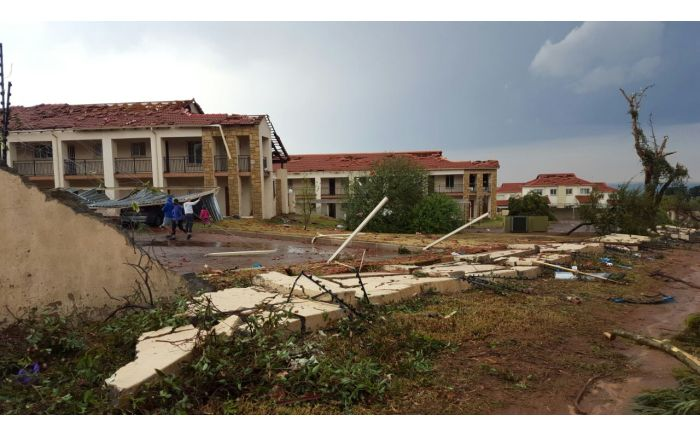 Storm damage in Honeydew.  Picture: Louise McAullife/EWN