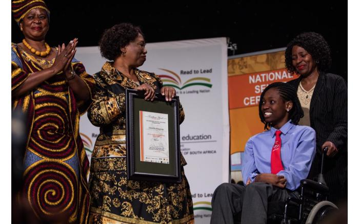 Special needs pupil Sibabalwe Mkunqwana from the Eastern Cape.