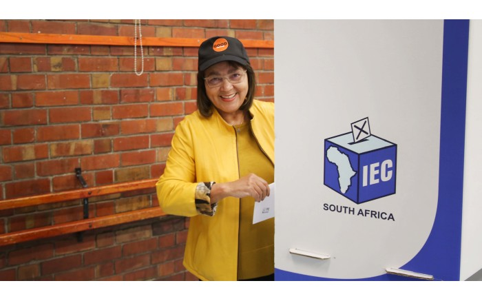 GOOD party leader Patricia de Lille casts her vote in Pinelands. Picture: Bertram Malgas/EWN