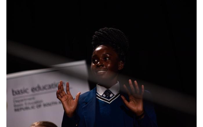 Lisa Nondumiso Msiza from Gauteng earned second place for South African Sign Language.