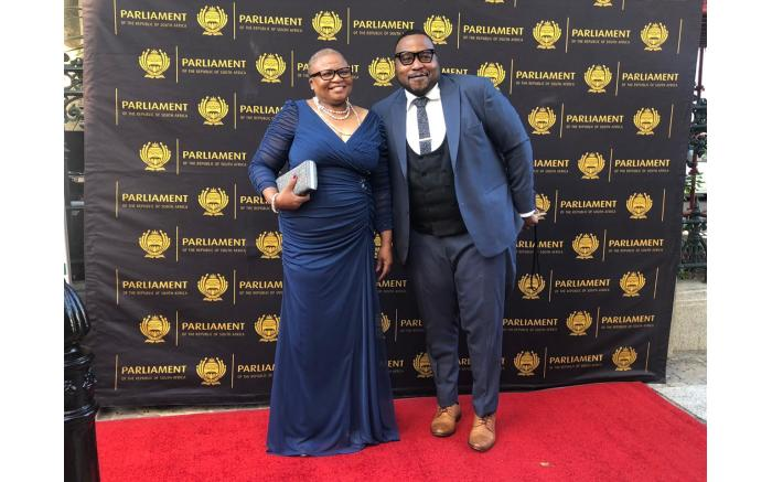 Deputy Minister of State Security Ellen Molekane and her son Tumi Molekane.