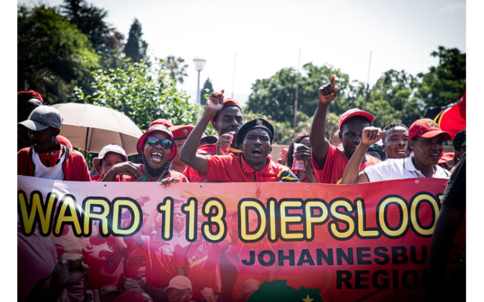 EFF supporters at the Randburg Magistrates Court