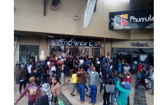 Damage at Phumulani Mall, Tembisa. PICTURE: Lerato Sharlote, Facebook
