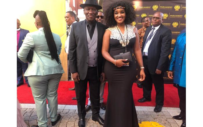 Police Minister Bheki Cele and his wife Thembeka Ngcobo.