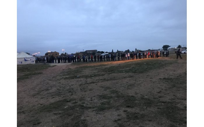 The queues continue to grow at voting stations in Paarl East in the Western Cape.
