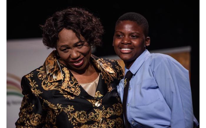 South African Sign Language top achiever Thabile Mathumbu from KwaZulu-Natal.