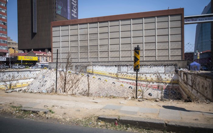 There are at least 50 more buildings that are in a similar poor state as the Bank of Lisbon building was . Picture: Abigail Javier/EWN