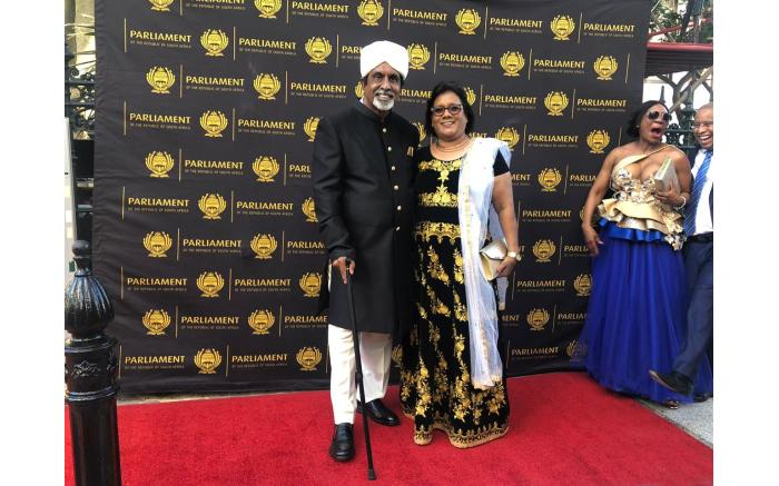 ANC MP Omie Singh and his wife Popsi.