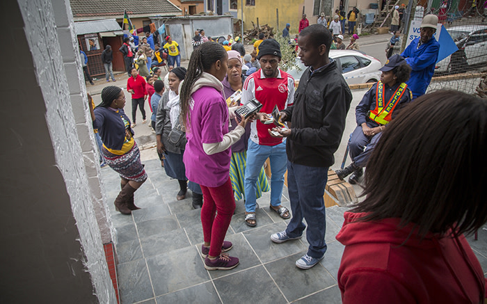Voters queue in Imizamo Yethu, Hout Bay, on 3 August 2016. Picture: Aletta Harrison/EWN.