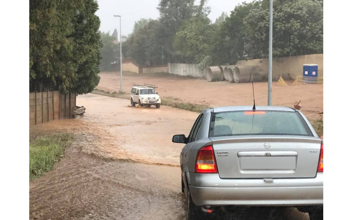 Flooding on JG Strijdom road in the West Rand.  Picture: Chad Lückhoff
