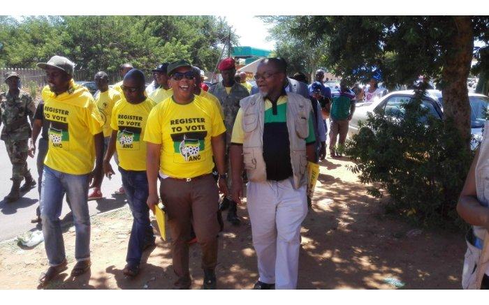 ANC Secretary-General Gwede Manthashe visits homes around TUT's Soshanguve campus. Picture: Kgothatso Mogale/EWN