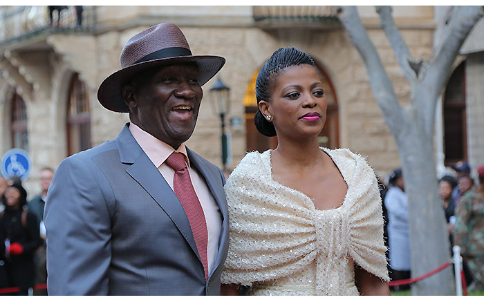 Bheki Cele and his wife Thembeka on the SONA red carpet on 17 June 2014. Picture: Aletta Gardner/EWN
