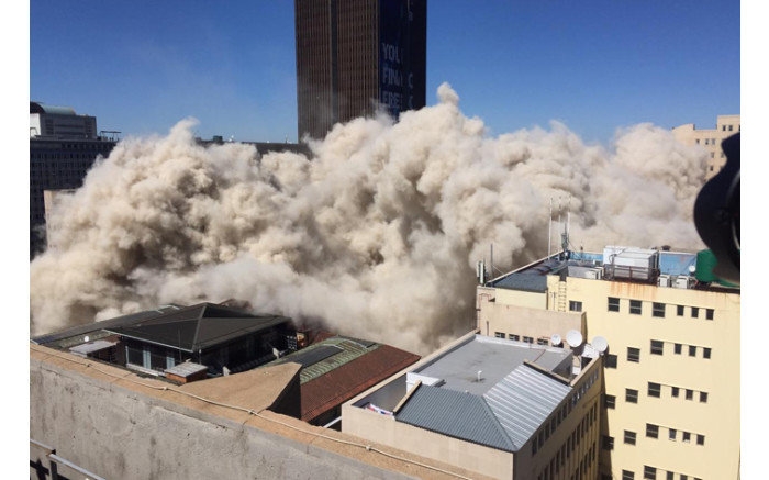 The Bank of Lisbon Building was demolished on 14 November 2019 after it was deemed structurally unfit. Picture: Ahmed Kajee/EWN