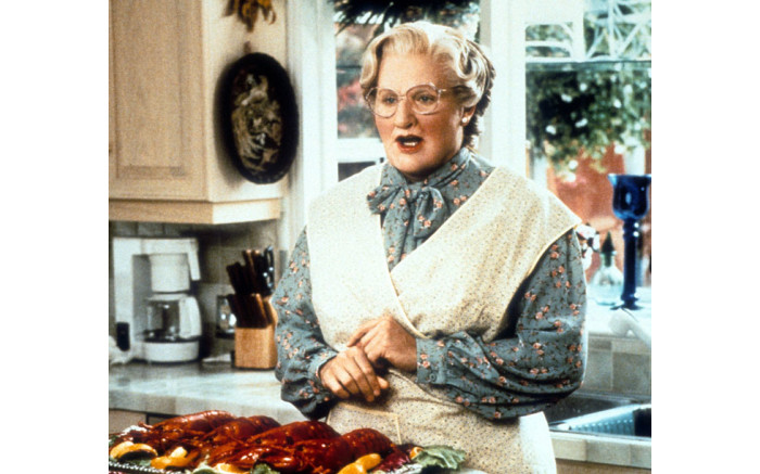 Robin Williams in a scene from 'Mrs. Doubtfire', 1993. Picture: Getty Images.