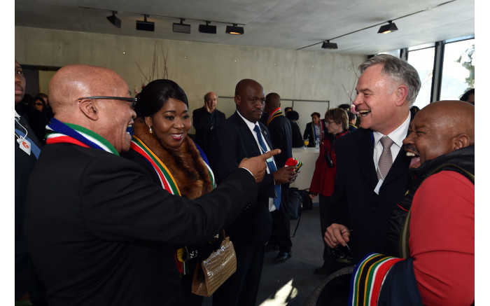 President Jacob Zuma meets SA business leaders in Davos during the 2016 World Economic Forum annual meeting. Picture: GCIS