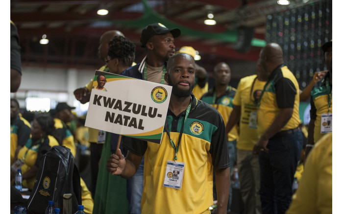 An ANC KwaZulu-Natal delegate awaits the start of the ANC's national conference on 16 December 2017. Picture: Ihsaan Haffejee/EWN.