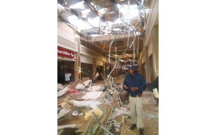 Damage at Phumulani Mall, Tembisa. PICTURE: Marion Nyangintaka, Facebook