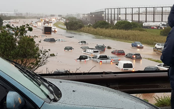 Flooding on the South of Durban on 10 October 2017. Picture: Thoko Mubere/Storm Report SA.