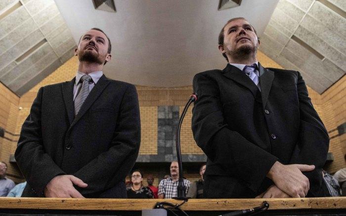 Pieter Doorewaard and Philip Schutte at the North West Hight Court for sentencing.  Picture: Abigail Javier/EWN