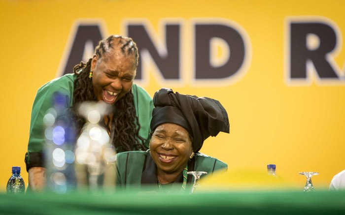 ANC presidential candidate Nkosazana Dlamini Zuma at the party's 54th national conference on 16 December. Picture: Thomas Holder/EWN.