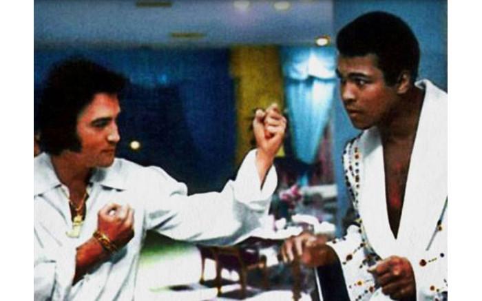 Elvis Presley and Muhammad Ali.
