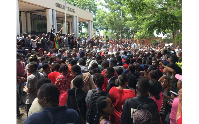 Students say the University of Zimbabwe is on lockdown until Mugabe goes.  Picture: Ihsaan Haffejee/EWN