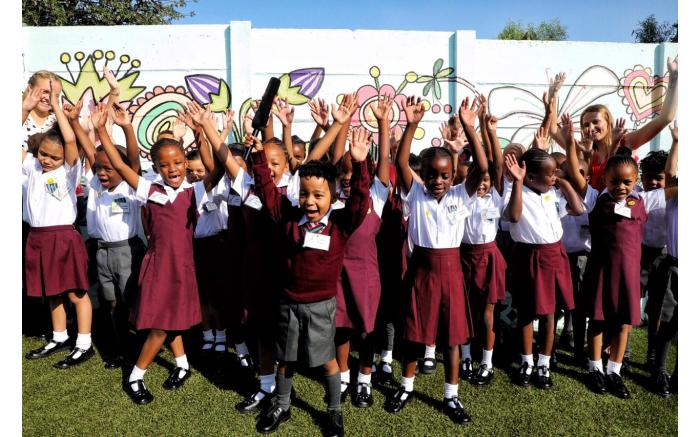 Jubilant Grade 1s at Northcliff Primary School.