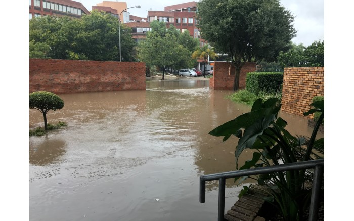 A view of the Centurion Lake Hotel after heavy rain hit Gauteng. Picture: Christa Eybers/EWN.