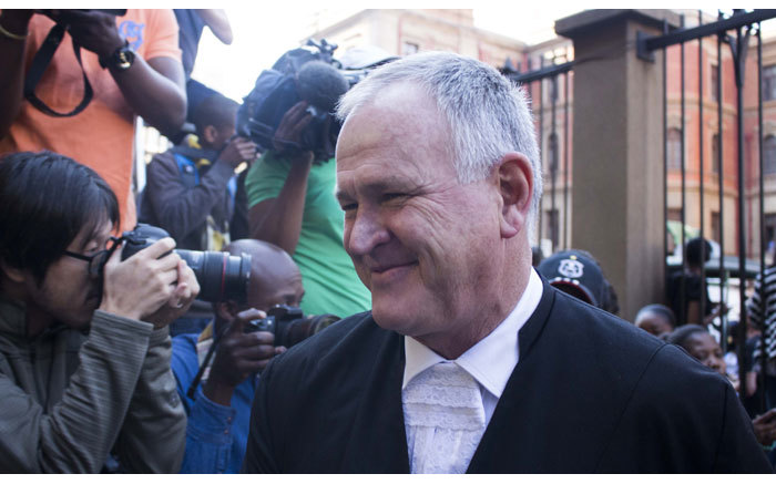 Advocate Barry Roux arriving at the High Court in Pretoria ahead of the second day of judgment in the Oscar Pistorius murder trial on 12 September 2014. Picture: Christa Eybers/EWN.
