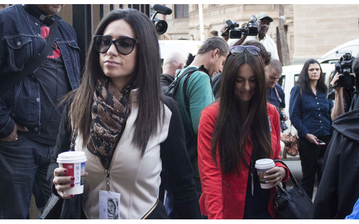 Members of the Myers famikly arriving at the High Court in Pretoria ahead of Oscar Pistorius murder trial on 11 September 2014. Picture: Christa Eybers/EWN.