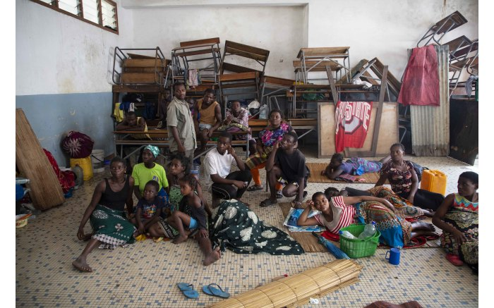 Victims of Cyclone Idai in a school, turned into a shelter in Beira, Mozambique. Picture: Christa Eybers/EWN