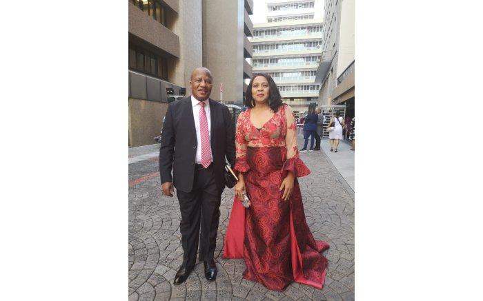 Jackson Mthembu and his wife Thembi at Sona 2020 on 13 February. Picture: Jackson Mthembu