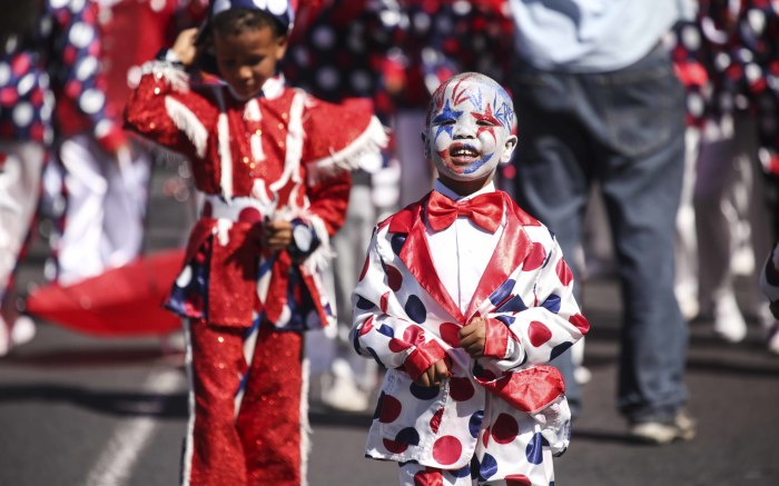 A young performer leads the JBE troupe. Picture: Cindy Archillies