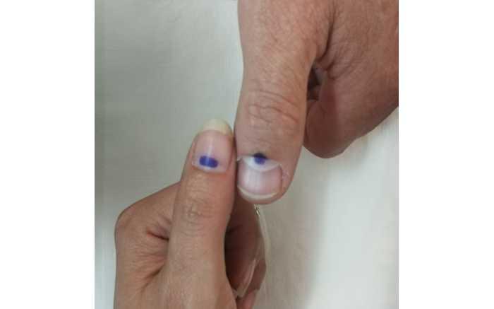 Eloise & Stan after voting in Gauteng.