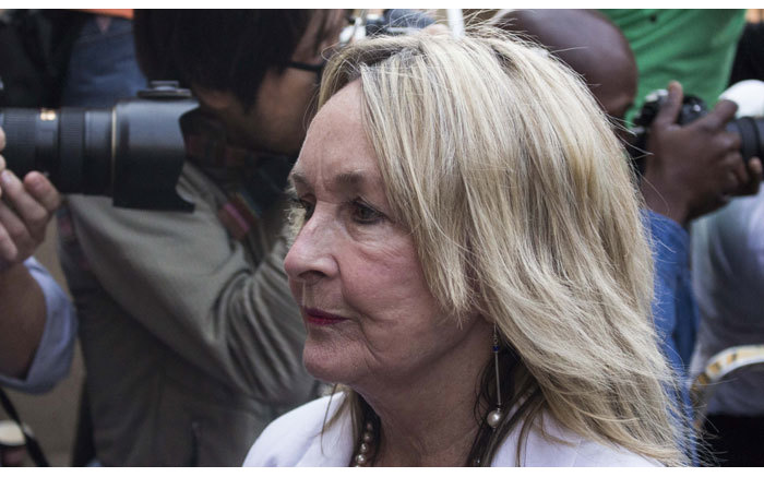 June Steenkamp arriving at the High Court in Pretoria ahead of the second day of judgment in the Oscar Pistorius murder trial on 12 September 2014. Picture: Christa Eybers/EWN.