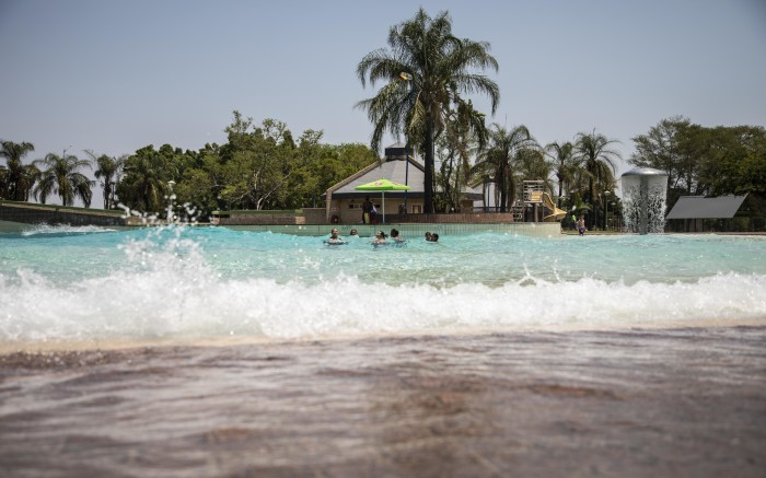 Visitors swimming in Warmbaths in Bela-Bela.