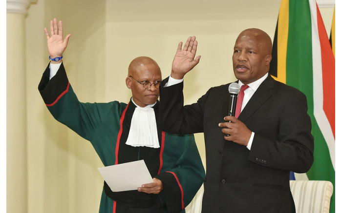 Minister Jackson Mthembu being sworn-in as Minister in the Presidency on 30 May 2019. Picture: Government ZA