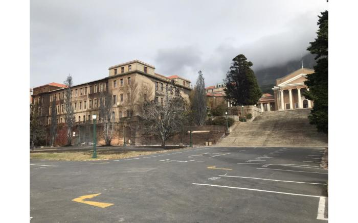Part of UCT's Humanities block was damaged by the fire. Picture: Lizell Persens/Eyewitness News